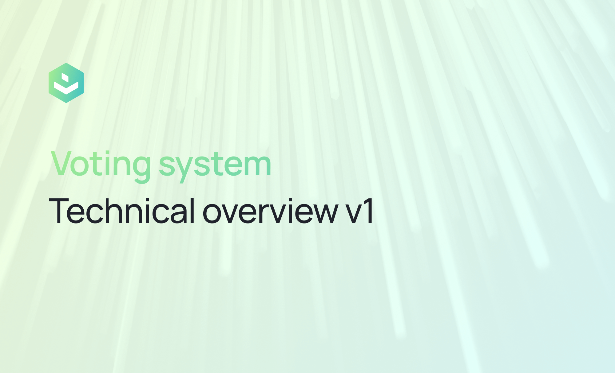 Vocdoni, voting system technical overview v1