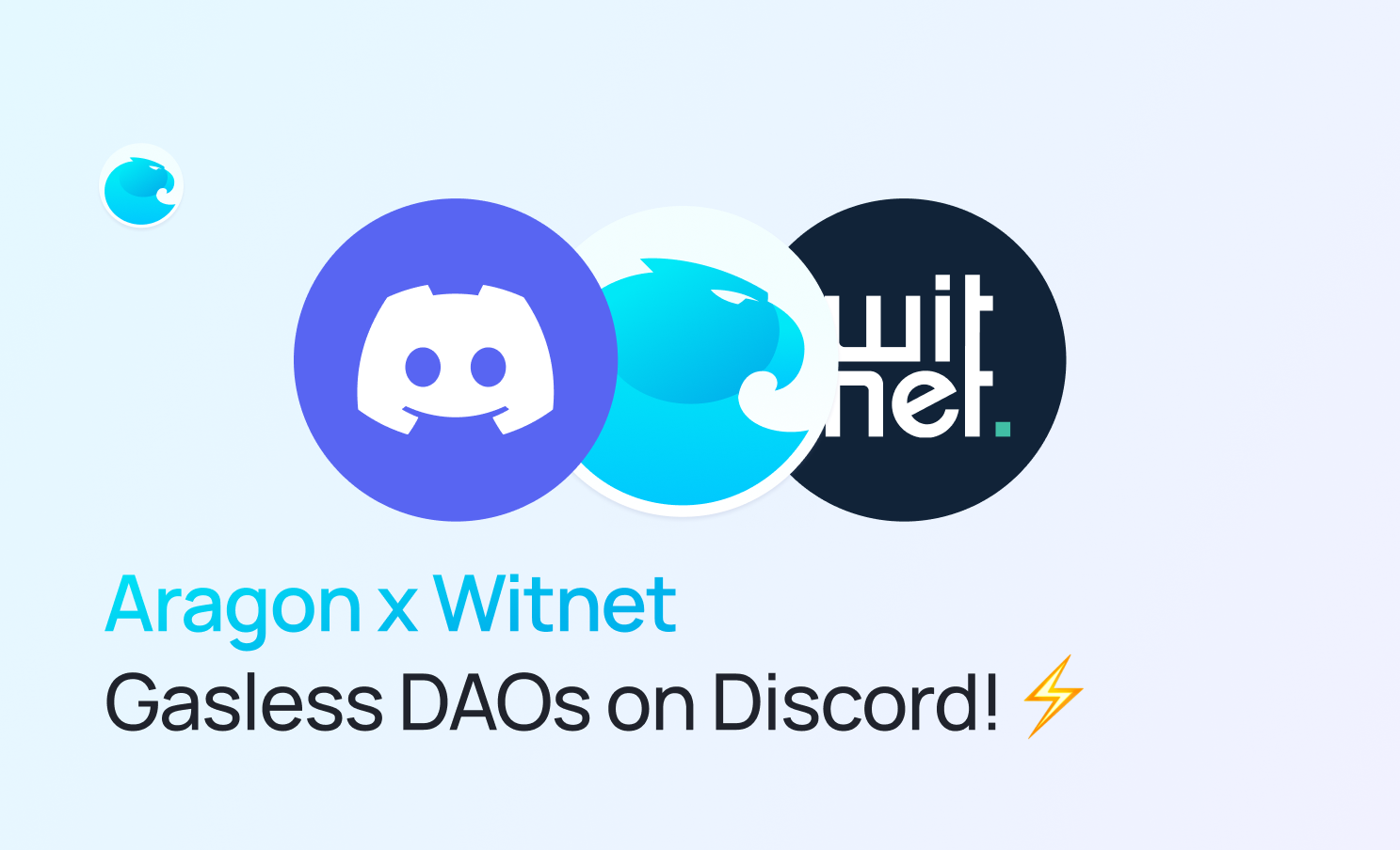 Aragon Partners with Witnet for Gasless DAO Management on Discord